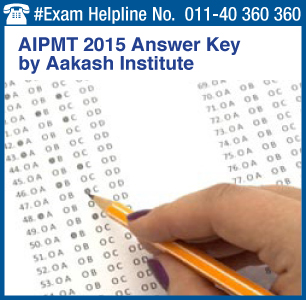AIPMT 2015 Retest Answer Key by Aakash Institute