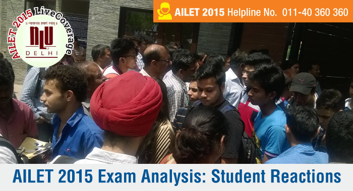 AILET 2015 Exam Analysis: Student Reactions