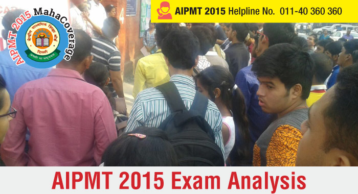 AIPMT 2015 Analysis - Student Reactions
