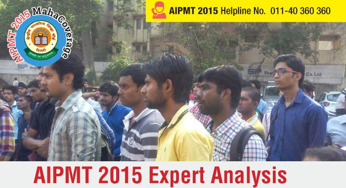 AIPMT 2015 Expert Analysis
