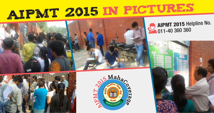 AIPMT 2015 Exam experience in Pictures