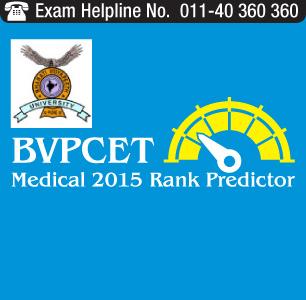 BVP CET Medical 2015 Rank Predictor