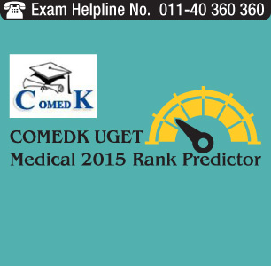 COMEDK UGET Medical 2015 Rank Predictor