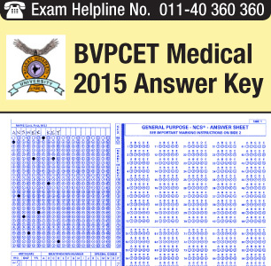 BVP CET Medical 2015 Answer Key