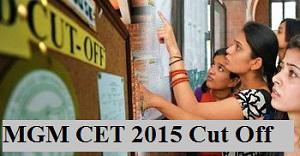 MGM CET 2015 Cut off