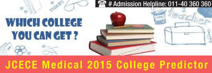 JCECE Medical 2015 College Predictor