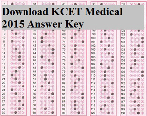 KCET Medical 2015 Answer Key