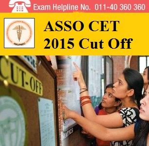 ASSO CET 2015 Cut off