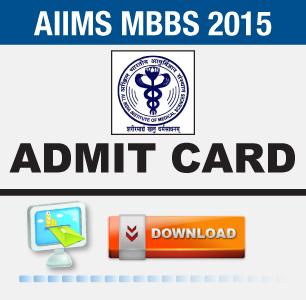 AIIMS MBBS 2015 Admit Card