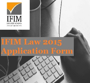 IFIM Law Admission Notification 2015; Apply online