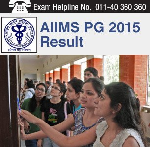 AIIMS PG 2015 Result declared on May 15