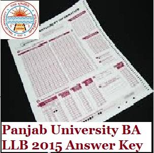 Panjab University BA LLB 2015 Answer Key