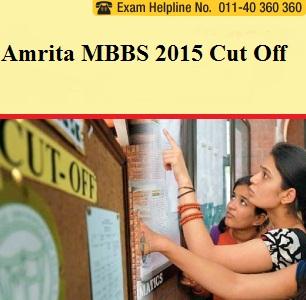 Amrita MBBS 2015 Cut off
