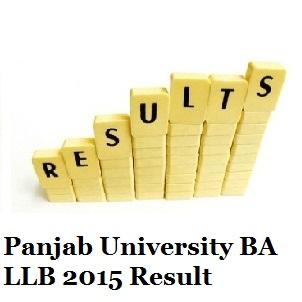 Panjab University BA LLB Entrance Exam 2015 Result