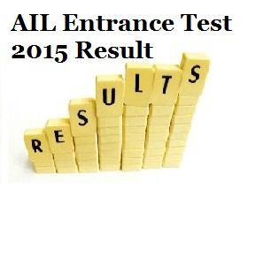 AIL Entrance Test 2015 Result