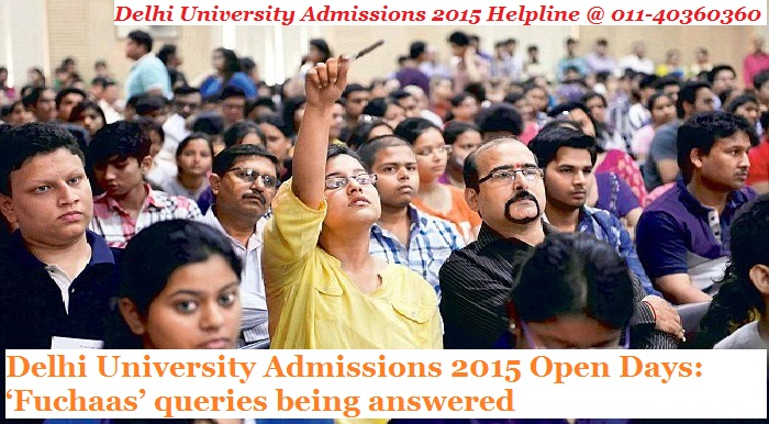 Delhi University Admissions 2015 Open Days: 'Fuchaas' queries being answered