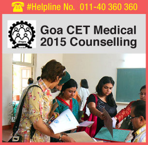 Goa CET Medical 2015 Counselling