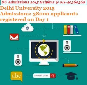 Delhi University 2015 Admissions: 38000 applicants registered on Day 1