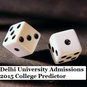 Delhi University Admissions 2015 College Predictor