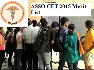 ASSO CET 2015 Merit List