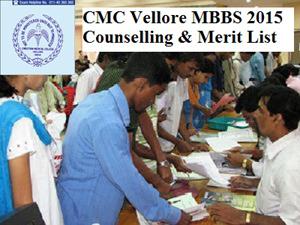 CMC Vellore MBBS 2015 Merit List