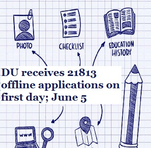 DU receives 21813 offline applications on first day