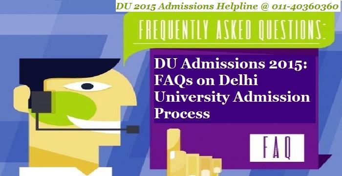 DU Admissions 2015: FAQs on Delhi University Admission Process