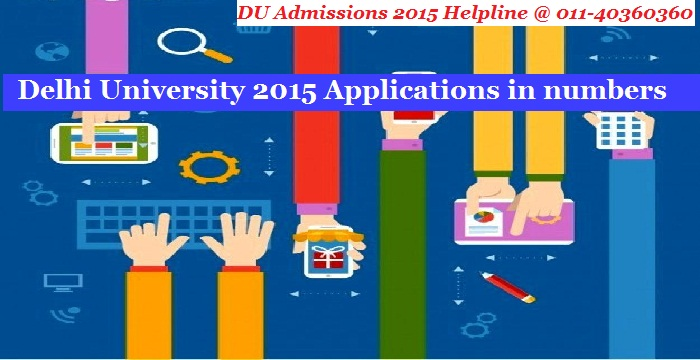 Delhi University 2015 Applications in numbers