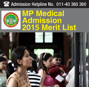 MP Medical Admission 2015 Merit List