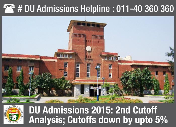 DU Admissions 2015: 2nd Cutoff Analysis; Cutoffs down by upto 5%