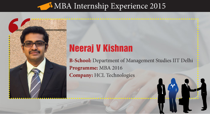 How Neeraj V Krishnan learned managerial skills during his Summers