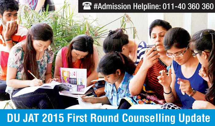 DU JAT 2015 First Round Counselling Update - 38 out of 447 seats vacant for BMS and BBA (FIA) programmes