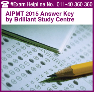 AIPMT 2015 Answer Key by Brilliant Study Center