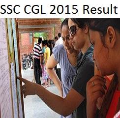 SSC CGL 2015 Result