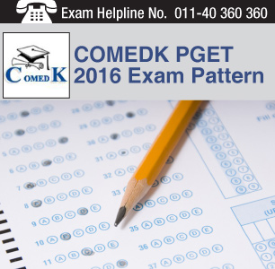 COMEDK PGET 2016 Exam Pattern
