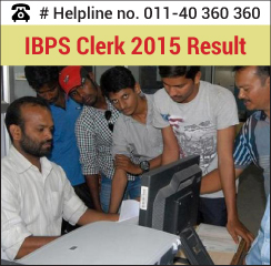 IBPS Clerk 2015 Result