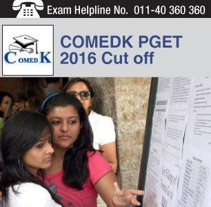 COMEDK PGET 2016 Cut off