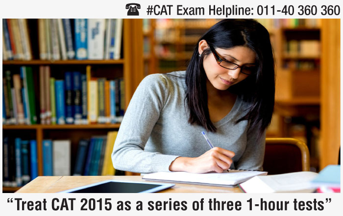 Treat CAT 2015 as a series of three 1-hour tests: Vinayak Kudva, IMS Learning