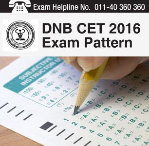 DNB CET 2016 Exam Pattern