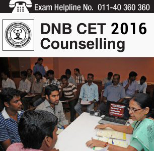 DNB CET 2016 Counselling