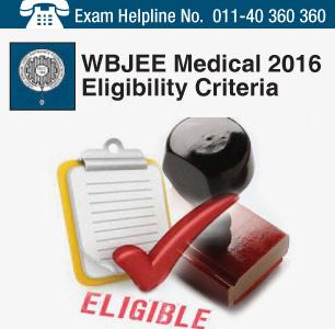 WBJEE Medical 2016 Eligibility Criteria