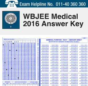 WBJEE Medical 2016 Answer Key