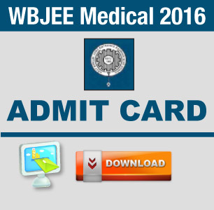 WBJEE Medical 2016 Admit Card