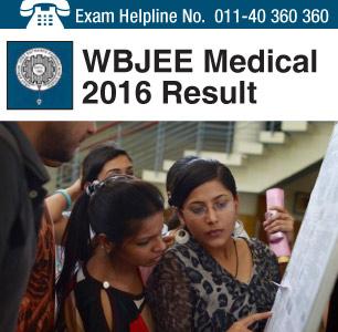 WBJEE Medical 2016 Result