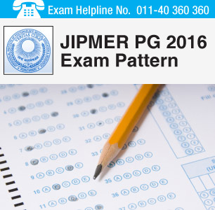JIPMER PG 2016 Exam Pattern