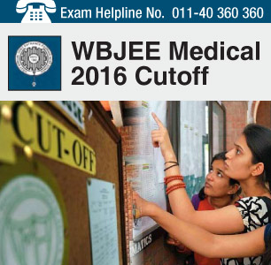 WBJEE Medical 2016 Cut off