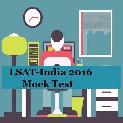 LSAT-India 2016 Mock Test