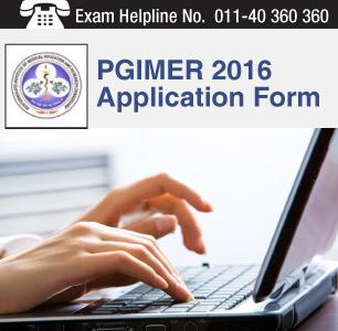 PGIMER 2016 Application Form