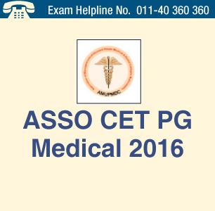 ASSO CET PG Medical 2016
