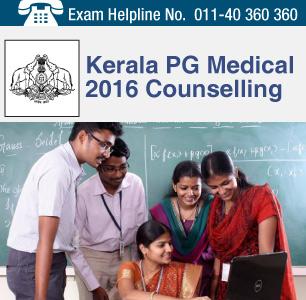 Kerala PG Medical 2016 Counselling